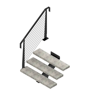 Weldlok Mono String Concrete and Wire 3 Tread Stair Kit