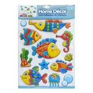 Boyle Home Decor Self-Adhesive 3D Stickers - Woodgrain Aquarium