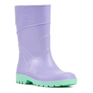 Bata Purple And Green Kids Gumboots - Size 13