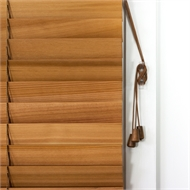 Windoware 45mm Cedar Venetian Blind - 900mm x 2100mm Western Red Cedar
