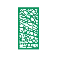 Protector Aluminium 600 x 900mm Profile 1 Decorative Panel Unframed - Light Green