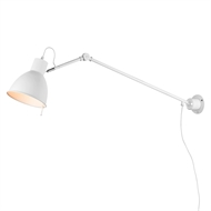 Verve Design Harper DIY Wall Light with Long Arm - White