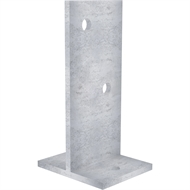 Dunnings 250 x 140 x 115mm Galvanised Bolt Down T Blade Stirrup