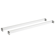 Flexi Storage 435mm White Cross Bars & L-Connector