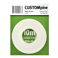 CustomPine 21mm x 10m White Iron-On Melamine Edging