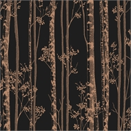 Graham Brown 52Cm X 10M Linden Black/Copper Wallpaper