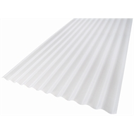 Suntuf 860 x 17mm x 6.0m Opal Standard Corrugated Polycarbonate Roofing Sheet