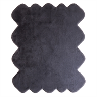 160 x 220cm Grey Octet Cloud Faux Fur Polyester Rug