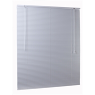 Zone Interiors 90 x 150cm 25mm Aluminium Slimline Dusk Venetian Blind - 900mm x 1500mm White