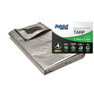 Polytuf 2.4 x 3.0m Ultra Heavy Duty D-Ring Tarpaulin