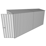 Build-a-Shed 0.8 x 4.5 x 2m Hinged Door Tunnel Shed - Zinc