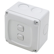 HPM AQUA 2 Gang Weatherproof Switch