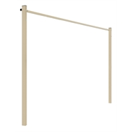 Austral 2.4m Classic Cream Fold Down Clothesline Ground Mount Kit