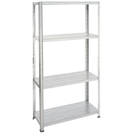 Handy Storage 137 x 71 x 30.5cm Galvanised 4 Shelf Unit