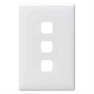 HPM LINEA 3 Gang Coverplate - White