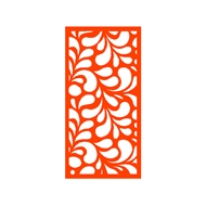 Protector Aluminium 1200 x 2400mm ACP Profile 17 Decorative Panel Unframed - Orange