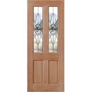 Woodcraft Doors 2040 x 820 x 40mm Cass Chrome Leadlite Entrance Door