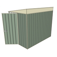 Build-a-Shed 1.5 x 2.3 x 2m Hinged Door Tunnel Shed without Side Doors - Green