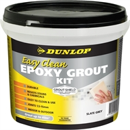 Dunlop 3.25kg Easy Clean Epoxy Grout Kit - Slate Grey