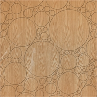 Easycraft 2400 x 1200 x 10mm American Oak Circles - Expression Series