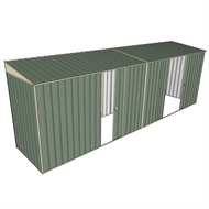 Build-A-Shed 1.2 x 6.0 x 2.0m Zinc Skillion Single with Double Sliding Side Doors Shed - Green