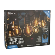 Lytworx 10 Warm White LED Connectable Party Lights