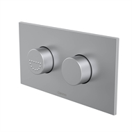 Caroma Satin Chrome Invisi Series II Care Dual Flush Plate And Raised Buttons