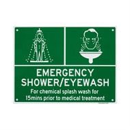 Sandleford 300 x 225mm Emergency Shower/Eye Wash Plastic Sign