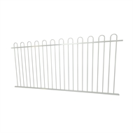 Protector Aluminium 2450 x 1200mm Loop Top Ulti-M8 Fence Panel - Pearl White