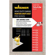 Wagner 3.65 x 4.57m Heavy Duty Canvas Drop Sheet