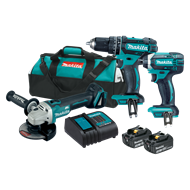 Makita 18v 2 x 3.0ah 3 Piece Cordless Combo Kit
