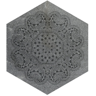 Johnson 242 x 280mm Pietra Necchio Ceramic Floor Tile Dark Grey