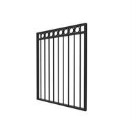 Protector Aluminium 975 x 1200mm Custom Double Top Rail with Rings Pool Gate Panel