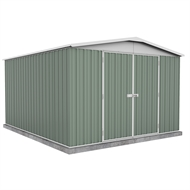 Garden Pro 3 x 3.66 x 2.06m Gable Roof Double Door Shed - Green