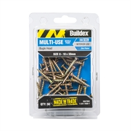 Buildex 8-10 x 30mm Zinc Plated Bugle Head Needle Point Screws - 50 Pack