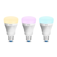 Wiz A60 E27 800lm Colour Adjustable Wi-Fi Smart Lamp - Twin Pack