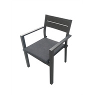 Mimosa Aluminium Lava Dining Chair with Cushion