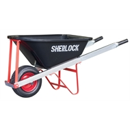 Sherlock 100L Trade Tough Premium Poly Tray Wheelbarrow
