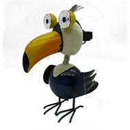 Lotus Collection Toucan Solar Metal Garden Statue