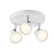 Verve 3 x 5W Apollo White Round Plate LED Spotlight