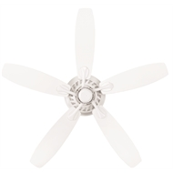 Brilliant 132cm White 5 Blade AC Hampton Ceiling Fan