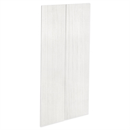 Kaboodle 900mm White Forest Modern Pantry Door - 2 Pack