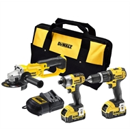 DeWALT 18V 3 Piece Cordless Combo Kit With 2 x 4.0AH Batteries