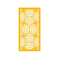Protector Aluminium 1200 x 2400mm Profile 10 Decorative Panel Unframed - Dark Yellow