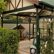 Softwoods 7.8 x 4.9m Colorbond Gable Roof Free Standing Pergola Kit