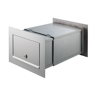 Sandleford Polished Steel Front And Back Letterbox With Telescopic Sleeve