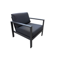 Mimosa Aluminium Lava Single Seat Sofa Chair