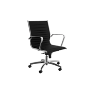 CeVello Black Freeway Midback Executive Chair On Wheels