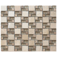 Decor8 Tiles 272 x 328 x 8mm Breeza Natural Crema Mosaic Tile