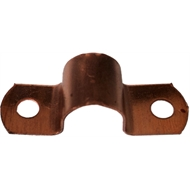 Kinetic 20mm Copper Pipe Saddle Clips - 10 Pack
